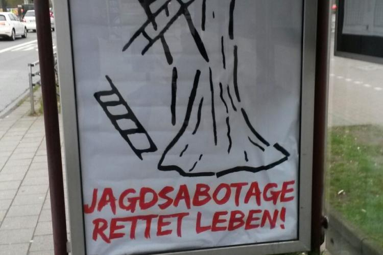 Anti-Jagd-Plakat